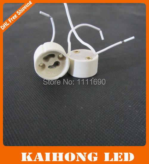 Free Shipping 100pcs/lot GU10 Base Socket Lamp Holder Ceramic Wire Connector GU10 Pottery and Porcelain Lamp Bases(China (Mainland))