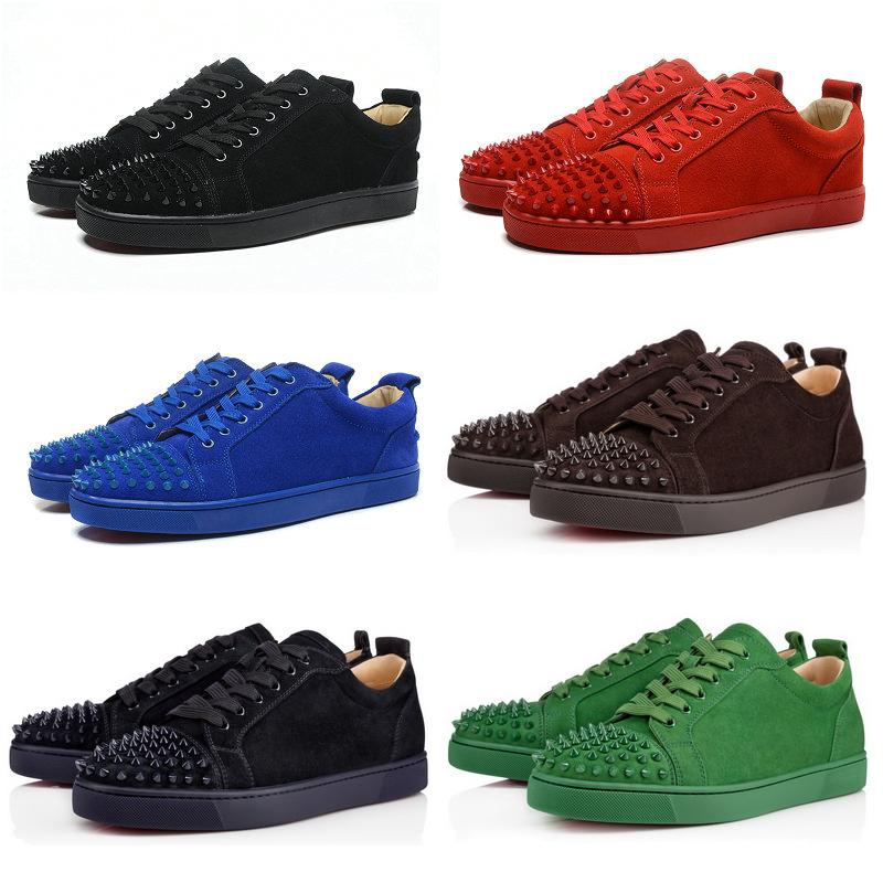replica red bottom shoes for men, black spiked louis ...