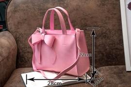Sweet Style Bowknot Women Large Hand Bag 2016 New Fashion Plain PU Leather Ladies Handbag Designer Elegant Shoulder Bag