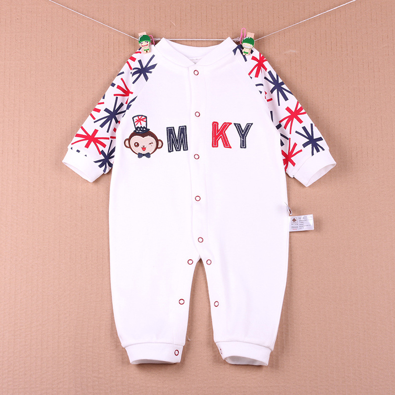Monkey Baby Rompers Foot Cover Baby One-pieces Clothes Footies Baby Bodysuits Retail Drop Ship Free(China (Mainland))