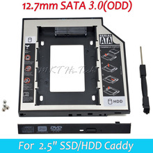 "Universale secondo hdd caddy 12.7mm sata 3.0 per 2.5 ""1 tb ssd  Caso hdd + indicatore led per notebook 12.7mm sata odd dvd-rom(China (Mainland))"