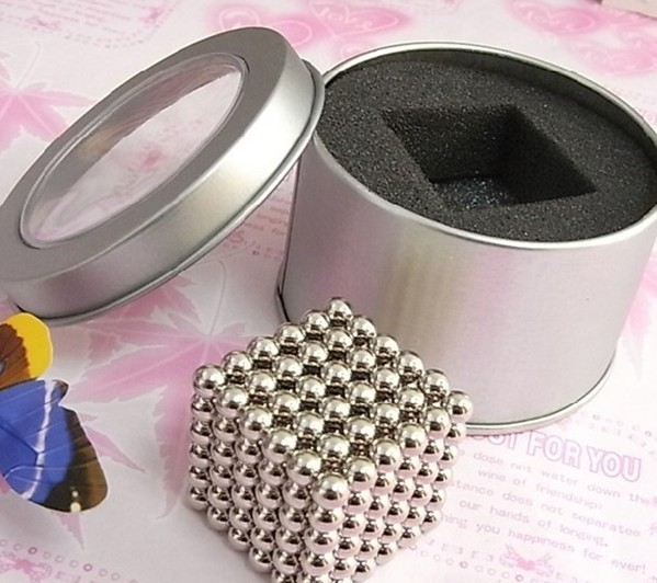 216 pcs Diameter 5mm nickel The Neocube neodymium Toy Neo Cubes Puzzle Cube Toy Sphere Magnet Magnetic Bucky Balls(China (Mainland))