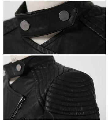 Горячая! нового европейского 2015 весна осень зима женщины мода средний - длинный тонкий пу куртка воротник стойка стиральная кожа пальто пыли g131