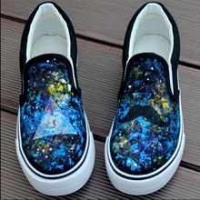 2016 Hot New Top Quality Hand-painted Low Style Men and Women's Flats  Casual Canvas Shoes