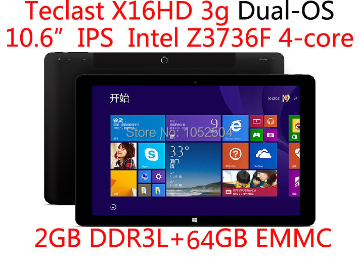 10.6 inch Teclast X16HD 3G Phone Call Dual Boot Quad Core 2GB RAM 64GB EMMCTablet PC HDMI Win8.1 Android 4.4(China (Mainland))