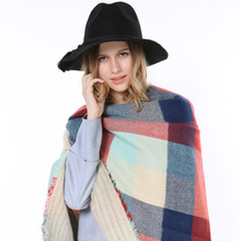 2015 High Quality Famous Brand Tartan Blanket Soft Oversize Shawl Warp Very Thick Warm Big Women British Winter Warm Scarf Plaid