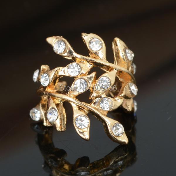 12pcs Wholesale Fashion Women's Punk Retro Earring Crystal Leaf Ear Cuff Warp Clip Earrings Party Jewelry Free