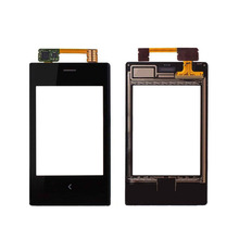 New mobile phone lens touch screen digitizer glass repair parts for Nokia Asha 503 N503 black free shipping