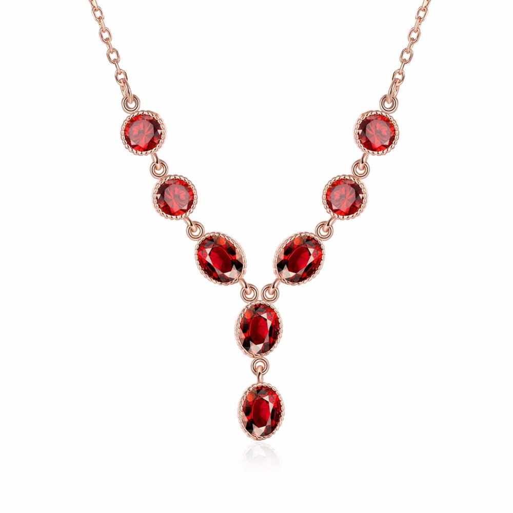 bead necklace ruby jewelry women fashion collare female evening dresses unique vintage valentine's day gifts ladies DNE0042(China (Mainland))