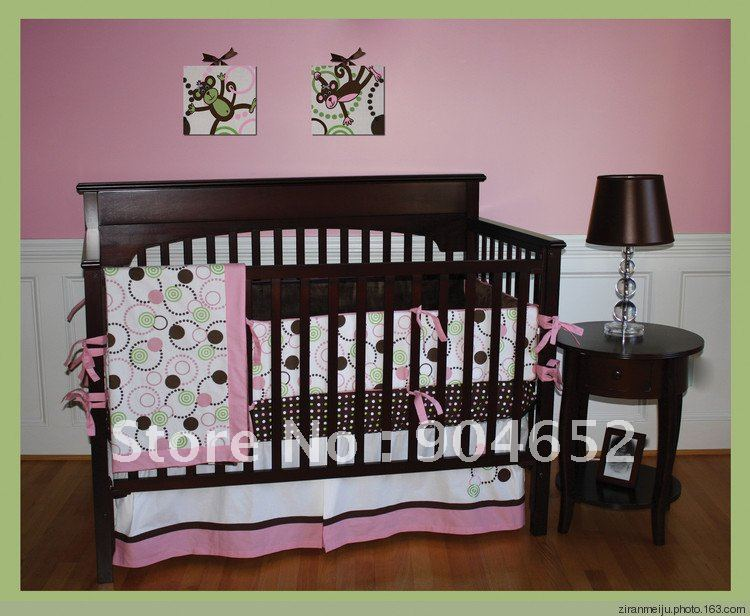 Promotion Branded 100 Cotton 8 Pieces Set Baby Crib