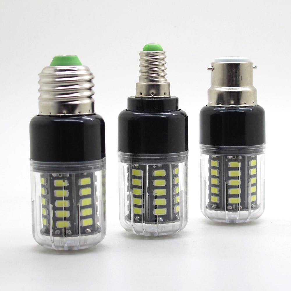 Brand New E27 E14 B22 LED Lamp 85-265V 5736 SMD LED Corn Light Bulb 40LEDs 500lm Real Power 5W No Flicker Long Life(China (Mainland))