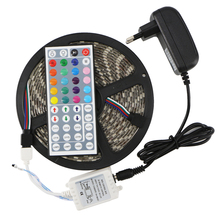 SMD 5050 RGB LED Strip Light Silicon Waterproof 300 LEDs 5M Flexible Tape Kit +IR Remote Controller+DC12V Power Supply Adapter(China (Mainland))