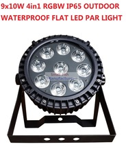 Buy 2016 Waterproof Led Par Light 9x10W RGBW Flat Par Can IP65 DMX Stage Effect Business Wash Lights Professional Party KTV Disco DJ for $150.00 in AliExpress store
