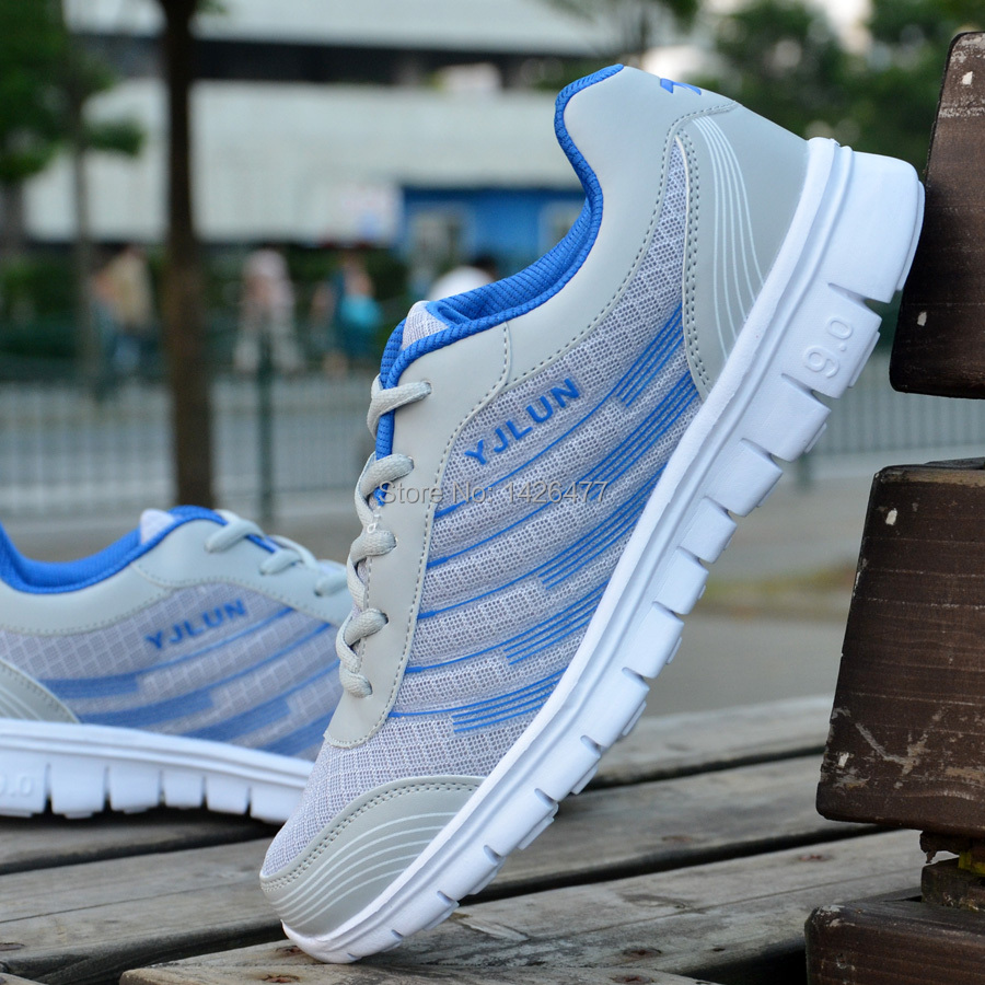 Spring and autumn male running shoes breathable sapatas network fashion shoes casual sports shoes ultra-light shoes(China (Mainland))