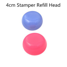 1Pc 4cm Squishy Nail Art Stamper Head Marshmallow Stamper Refill Head #22155 (Random Color)(China (Mainland))