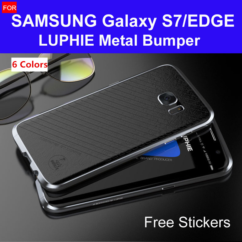 s7 edge bumper G935 original LUPHIE amazing highly oxidized aluminum metal frame for samsung galaxy s7 case G930 hard cases(China (Mainland))