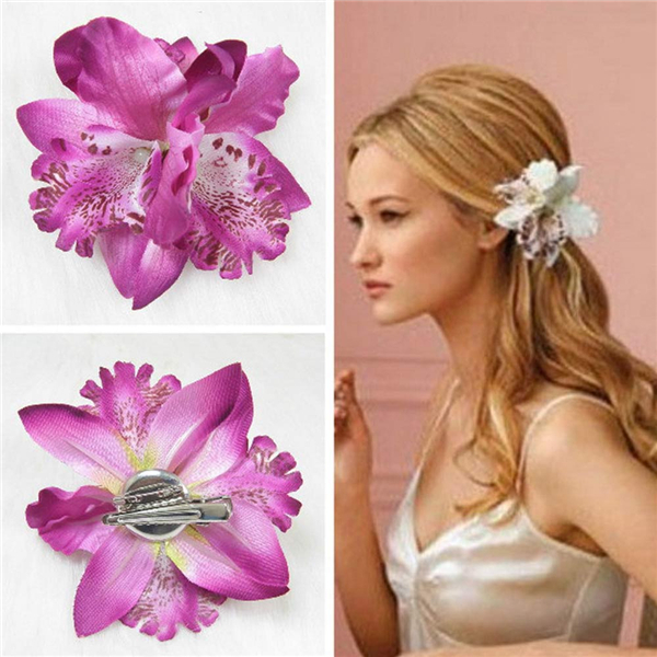 lackingone & hot sale Bohemia Orchid Peony Flowers Hair Clips Hairpin Corsage Hair Jewelry Fashion Tiara 5 colors can be choosed(China (Mainland))