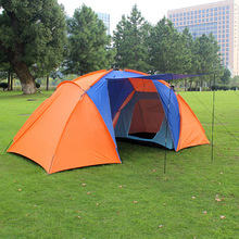 2015 new style high quality big tourist tent double layer two bedroom camp 4 person large camping tent family(China (Mainland))