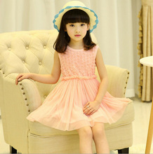 2015 dress summer floral baby flower girl princess tutu 2 color for weddings infant holiday dresses kids clothing