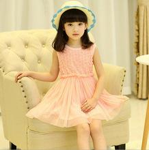 2015 dress summer floral baby flower girl princess tutu 2 color for weddings infant holiday dresses kids clothing
