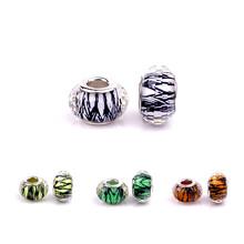 Aliexpress best seller pattern resin beads DIY fit pandora bracelet beads multi color optional 4011(China (Mainland))