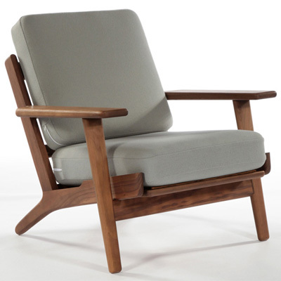 Hans wegner fauteuil salon chaise design moderne bois for Chaise de salon moderne