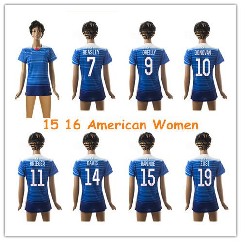 Thai Quality USA Women Jersey 2016 Football Shirt Survetement Football 15 16 Girl Lady Soccer Jerseys Maillot de foot(China (Mainland))
