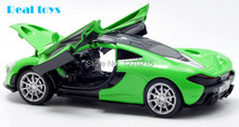 1/32 scale diecast car model McLaren P1 pull back with light and sound 3 colors(China (Mainland))