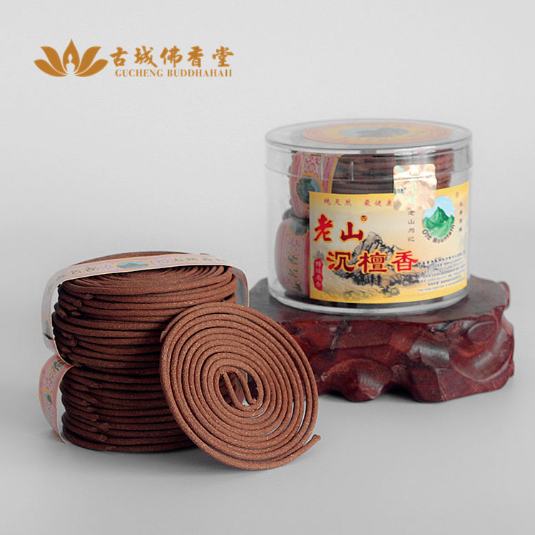 [Ancient Buddhist Church] US real Laoshan Shen sandalwood incense incense coil natural special ceremony in addition to taste<br><br>Aliexpress