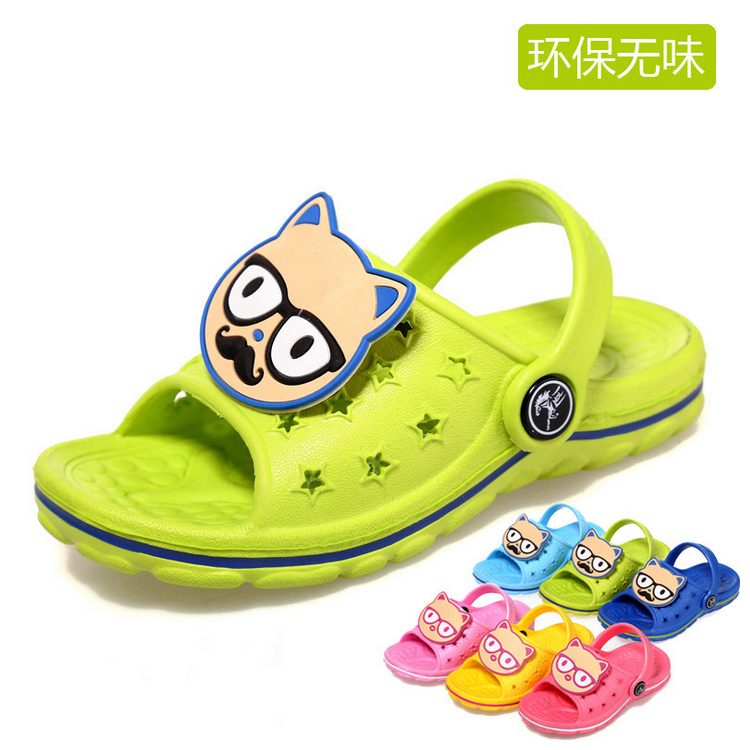 2015Hot sale Special offer Insole 11.8~18.4cm Children Sandals kids Sneakers baby boys and girls slippers Children shoes(China (Mainland))