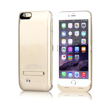 """Sacos & Casos de Telefone Caso de Telefone Banco do Poder Carregador de Bateria de Backup Externo para Iphone """"recarregável de Telefone Móvel de Couro 4200 MAH 6 S Plus 5.5 Celular"""