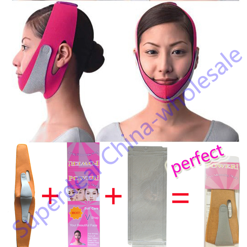 EMS free Wholesale slimming face mask slim chin face belt bandage health skin care weight loss double thin Shape And Lift Reduce(China (Mainland))