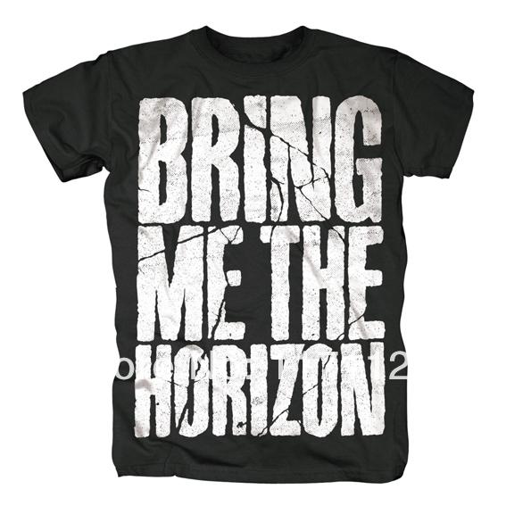 Free shipping BRING ME THE HORIZON Black T Shirt The Trooper Heavy Metal Black Rider Bike(China (Mainland))