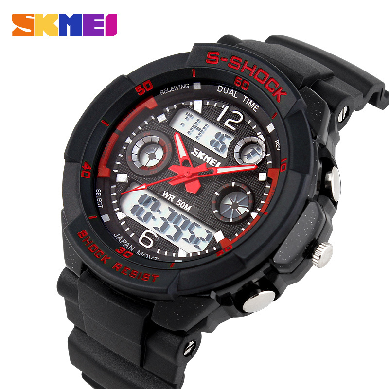 2015 Men's Quartz LED Digital Watch SKMEI Men Sports Watches S Shock Military Waterproof Wristwatches Relogio Masculino Relojes(China (Mainland))