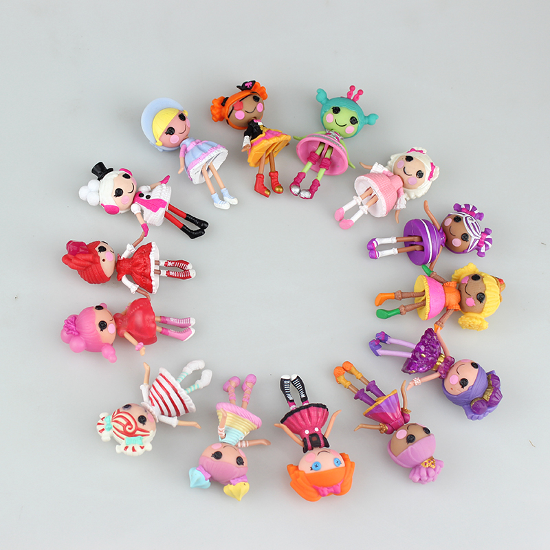 1pc 3Inch Original MGA Lalaloopsy Dolls Mini Dolls For Girl's Toy Playhouse Each Unique(China (Mainland))