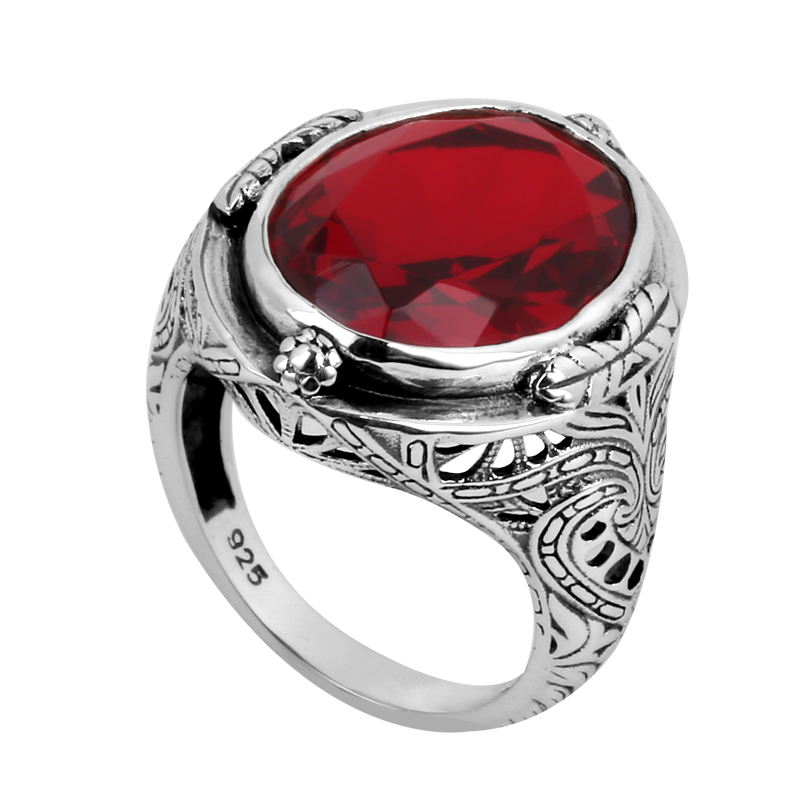Fashion High Quality Ruby Jewelry 100% Real 925 Sterling Silver Ring Fine Jewelry 925 Silver Wedding Rings for Men and Women(China (Mainland))