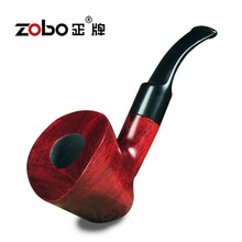 High quality red sandalwood Ben Type Smoking Pipes ZOBO wood pipe ZB-546 wooden tobacco smoking pipe