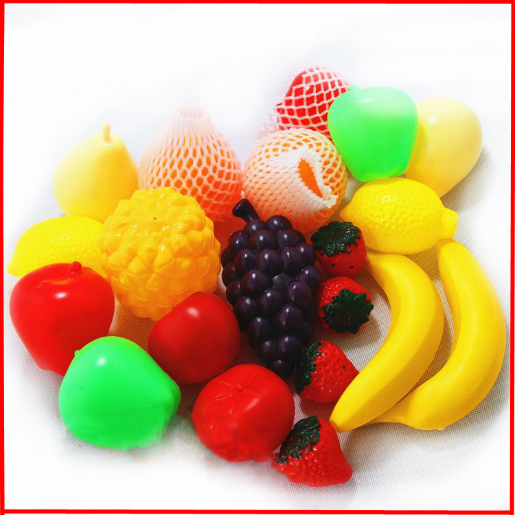 2015 New 20piecs Classic Plastic Fruit Food Kitchen Pretend Play Educational & Learning fruits Toy High Quality kids Gift(China (Mainland))