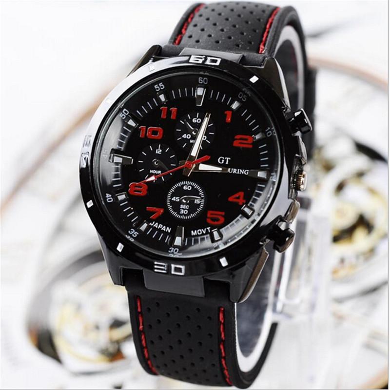 New Sports watch male fashion silica gel watch female table casual big dial lovers quartz watch