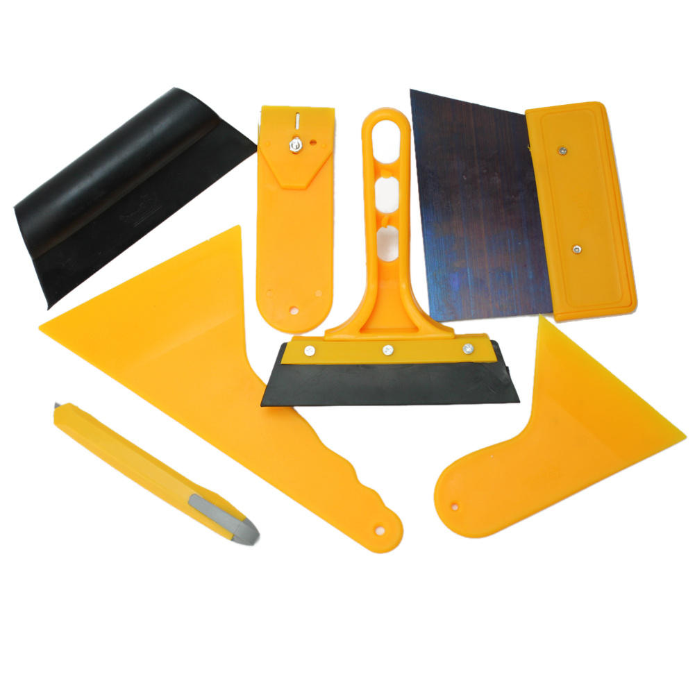 7Pcs Car Auto Window Scraper Wrapping Tint Vinyl Film Squeegee Cleaning Tool Kit EM00102 S02(China (Mainland))