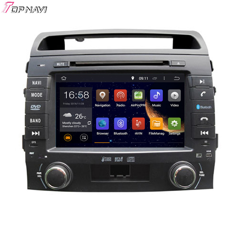 8 Quad Core Android 5 1 font b Car b font Radio GPS For TOYOTA Land