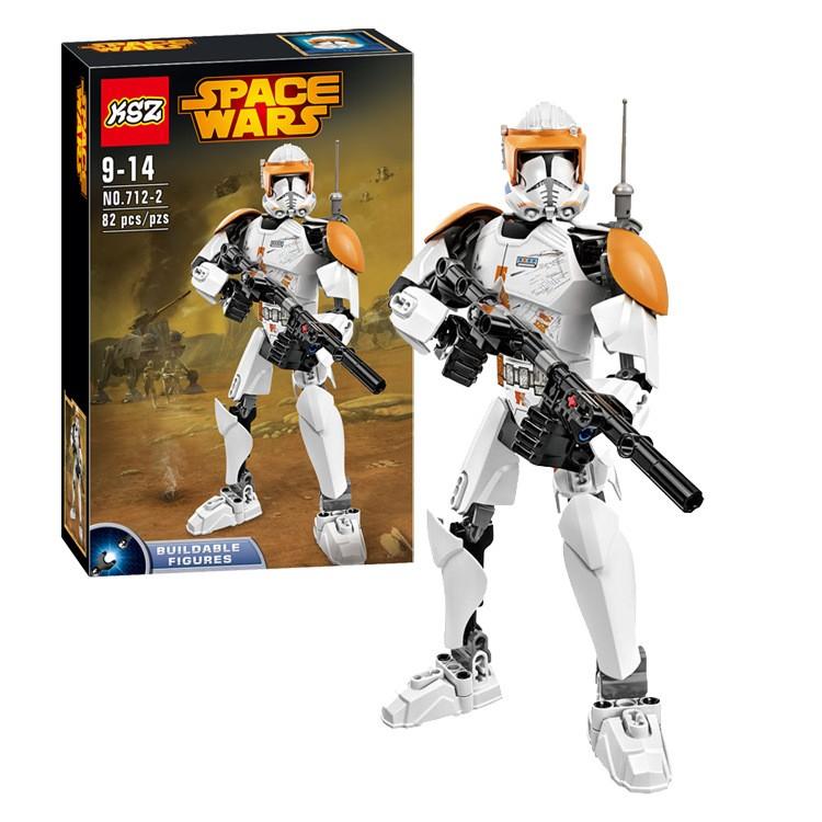 Star Wars XSZ 712-2 Space Wars Children's Buildable Figures Bionicle Building Block Minifigure Compatible with Legoe LR-738 Toys