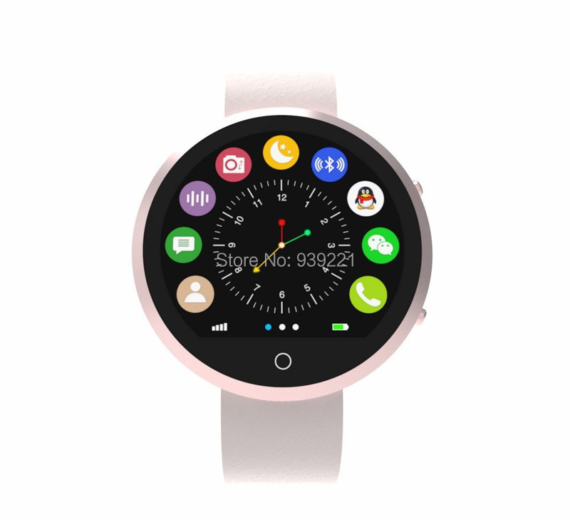 3 Colors New Round Smart Watch BT360 Health Monitor Bluetooth SmartwatchFor IOS Android Smartphone Support SIM Card -in stock