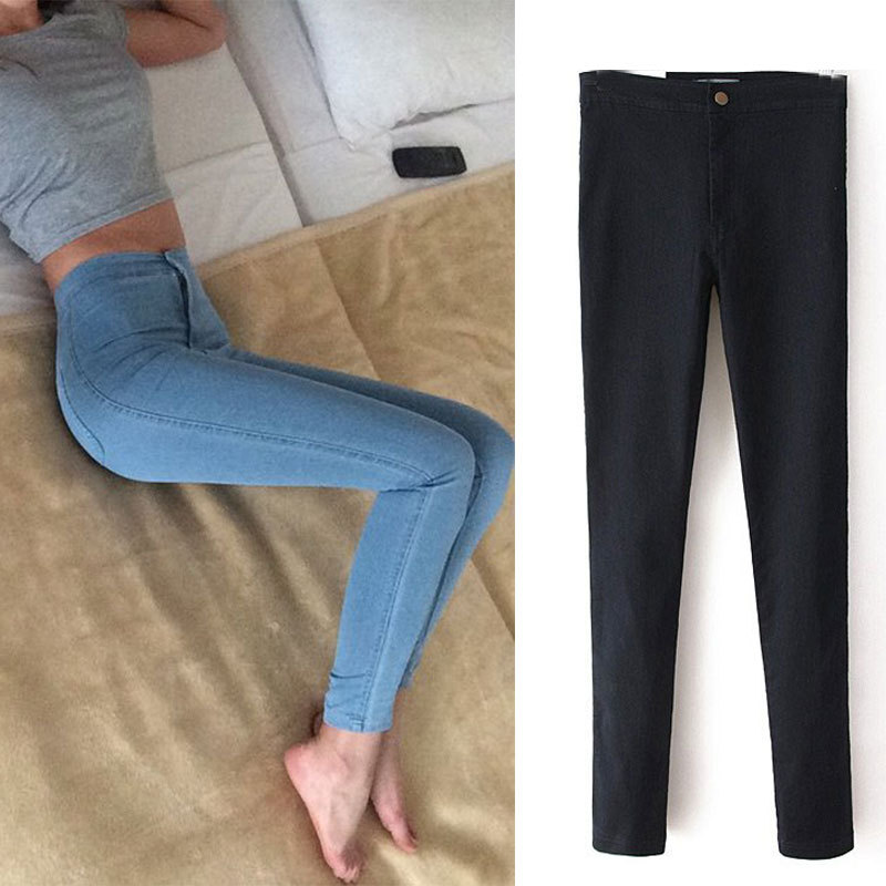 Jeans Womens Pencil Pants 2015 New Slim High Waist Jeans High Quality Elastic Women Jeans Skinny Pants Trousers Jeans Womens LOV