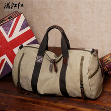 High quality large capacity brand men's travel bag Europe and the United States style contracted men's outdoor sport bag big (China (Mainland))