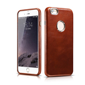 ICARER Business Style Retro Genuine Real Leather Hollow Logo Full Cover Back Case For For iPhone
