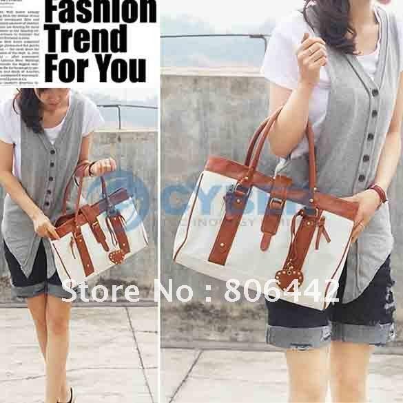 New Korean Stylish Style Women's PU leather Handbag Shoulder Bag White