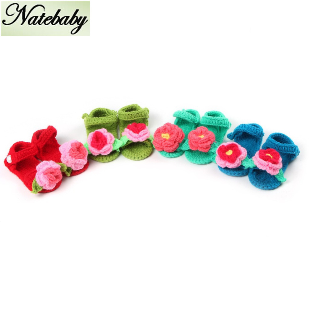New simple design handmade knitting baby beautiful walker shoes wholesale NF0482(China (Mainland))