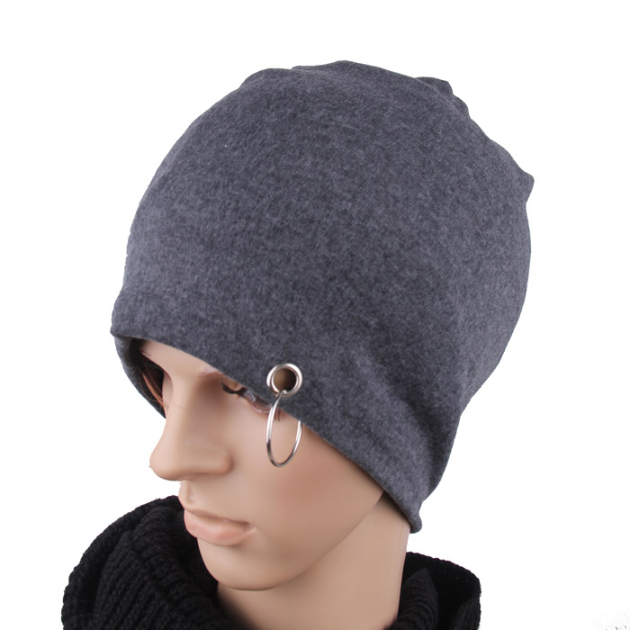 Free shipping Summer knitted thin male women's 100% solid color cotton turban tube hat(China (Mainland))
