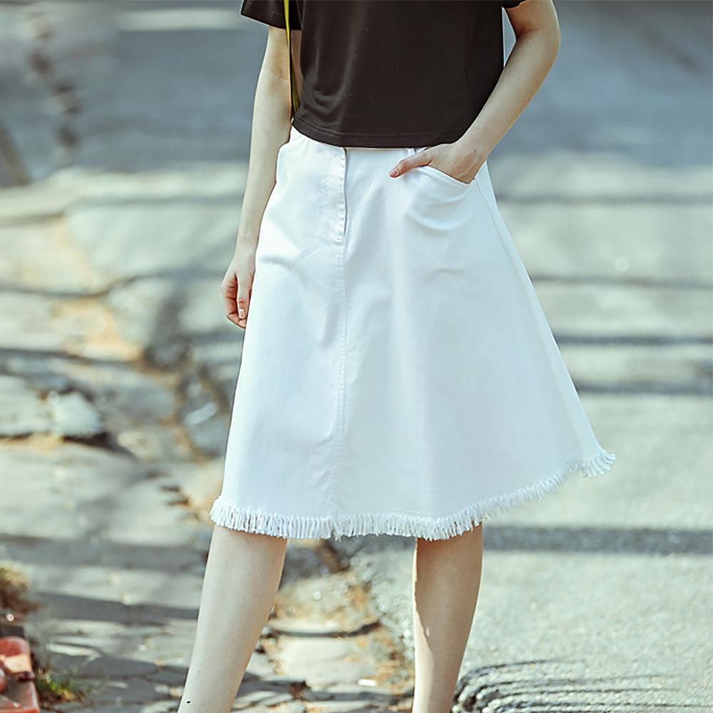 2016 summer new stylish fringed denim skirt white women's skirts MF9212(China (Mainland))